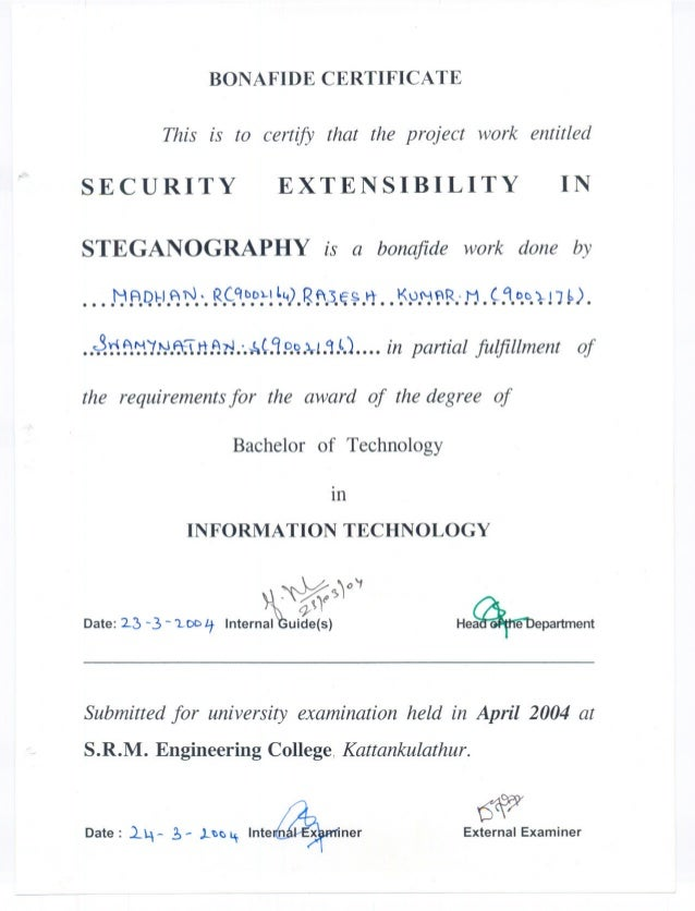 BONAFIDE CERTIFICATE                 This is to certify that the project work entitled       SECURITY                 EXTE...