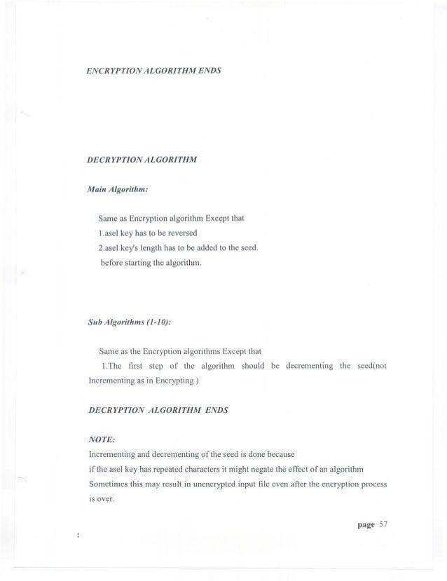 ENCRYPTION         ALGORITHM                 ENDSDECRYPTION        ALGORITHMMain Algorithm:   Same as Encryption algorithm...