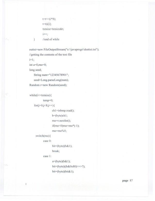 Steganography Project