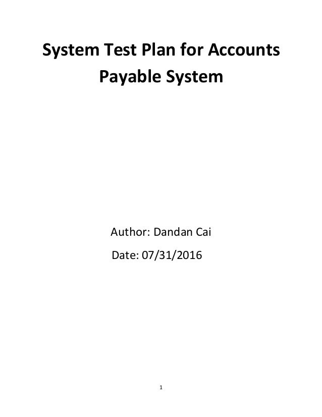accounts payable test