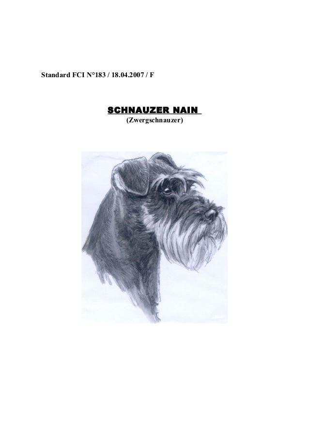 Standard FCI N°183 / 18.04.2007 / F  SCHNAUZER NAIN (Zwergschnauzer)