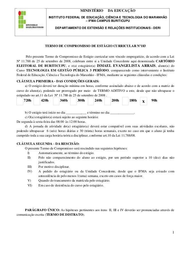 1 MINISTÉRIO DA EDUCAÇÃO INSTITUTO FEDERAL DE EDUCAÇÃO, CIÊNCIA E TECNOLOGIA DO MARANHÃO – IFMA CAMPUS BURITICUPU DEPARTAM...