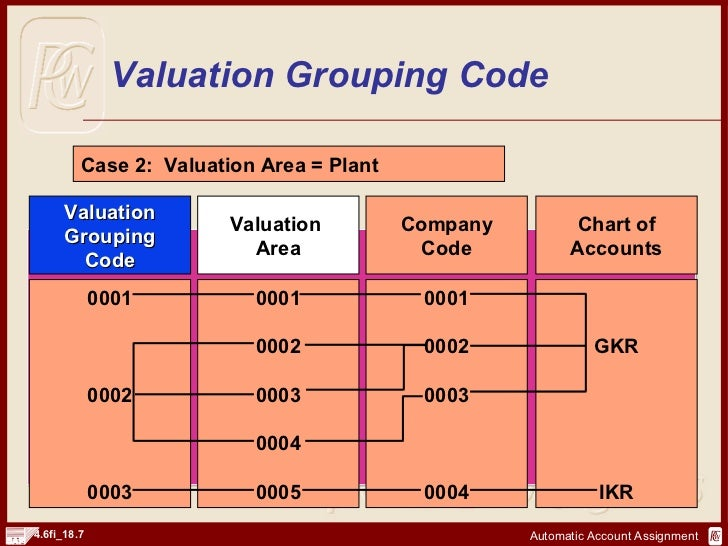 valuation account assignment