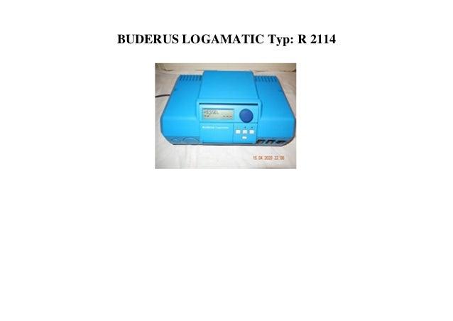 BUDERUS LOGAMATIC Typ: R 2114