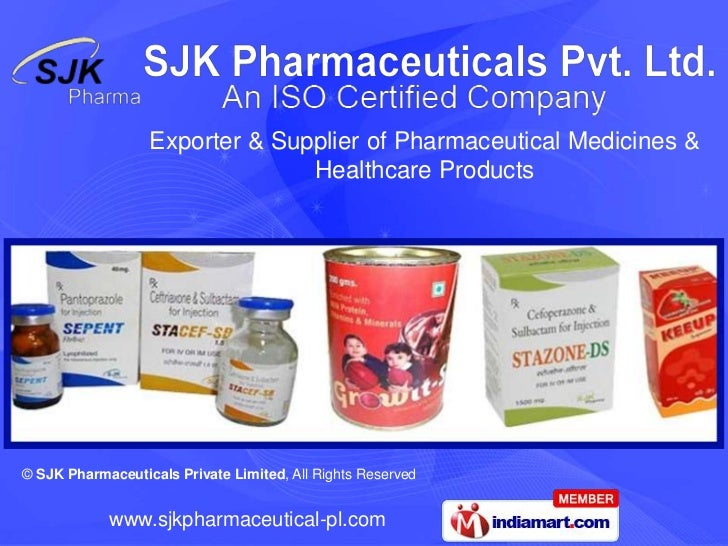 Exporter & Supplier of Pharmaceutical Medicines &                                Healthcare Products© SJK Pharmaceuticals ...