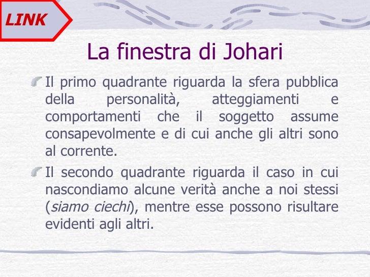 Lezione 1 - Finestra di johari ...