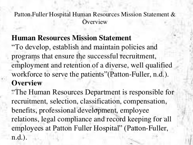personal statement for human resources management Human resource management personal statement the human resources department is now an essential part of every major corporation in every industry.