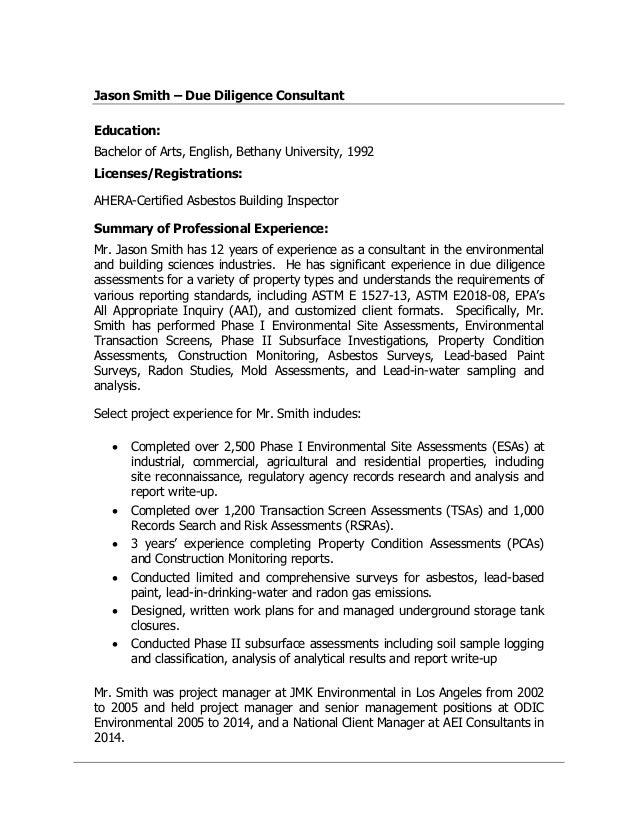 jason smith 2016 consulting resume