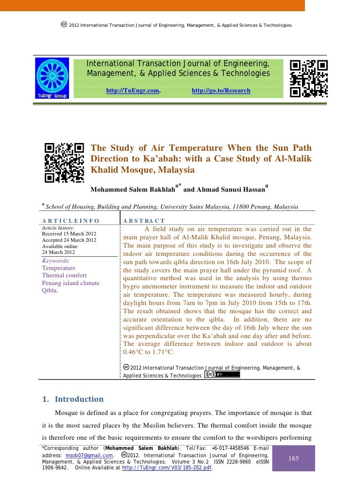 2012 International Transaction Journal of Engineering, Management, & Applied Sciences & Technologies.                   In...
