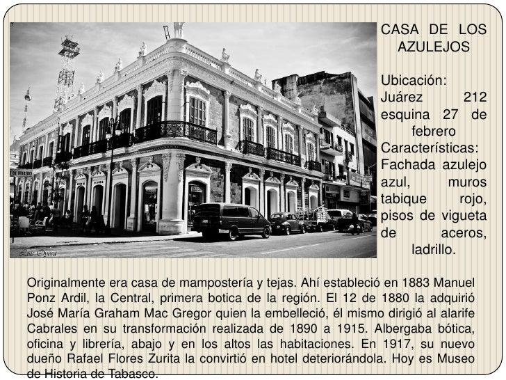 1850 tomas garrido for La casa de los azulejos