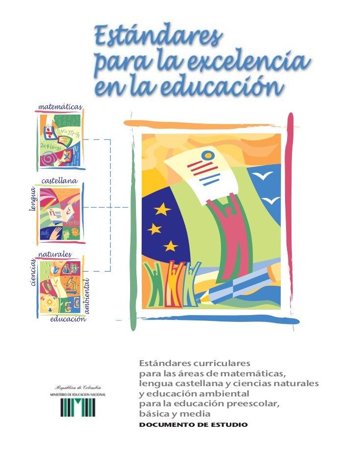 18508550 estandares curriculares for Estandares para preescolar