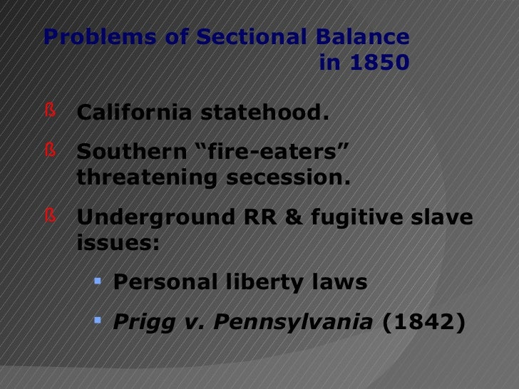 prigg v pennsylvania In prigg v pennsylvania, the court held that congress had exclusive authority to legislate with respect to the rendition of fugitive slaves in its first decision.