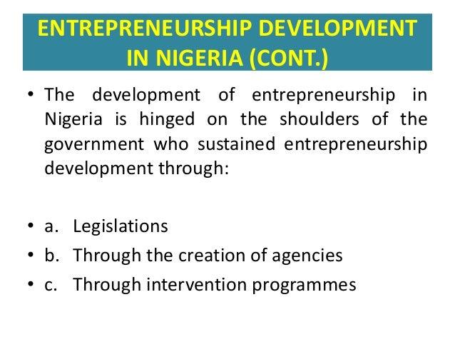 Development of Entrepreneurship in Ghana: the Way Forward Essay