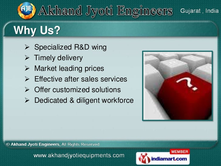 Why Us?    Specialized R&D wing    Timely delivery    Market leading prices    Effective after sales services    Offe...