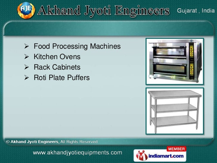    Food Processing Machines   Kitchen Ovens   Rack Cabinets   Roti Plate Puffers