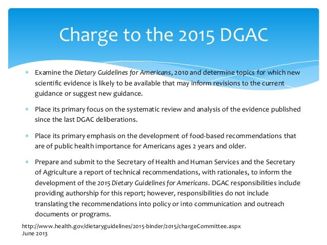 dietary guidelines for north americans and suggested food choices The information below has recently been updated to reflect the current development of the dietary guidelines for americans, 2015 q: what are the dietary guidelines for americans, who are they for and how are they used.