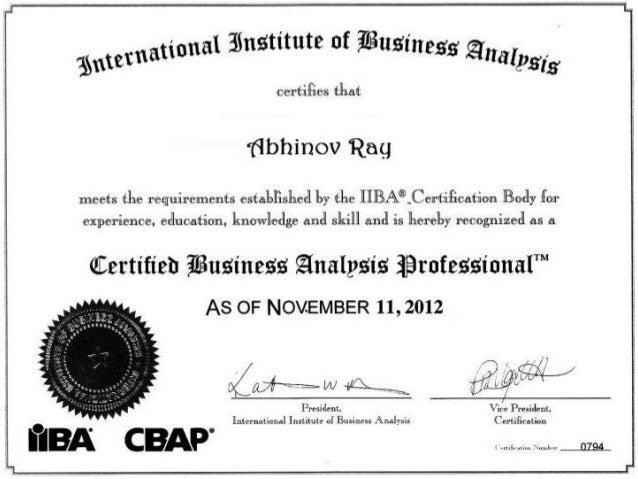 certification analyst business iiba slideshare upcoming