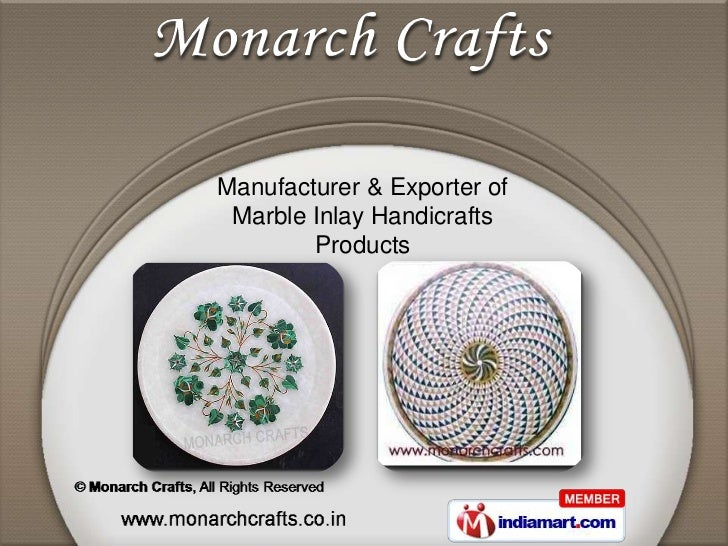 Manufacturer & Exporter of Marble Inlay Handicrafts        Products