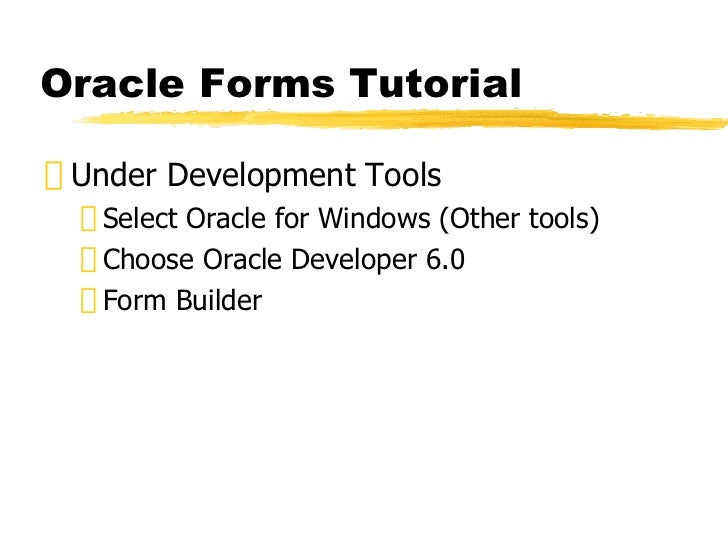 oracle-forms