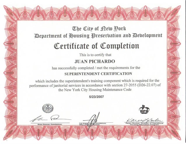 JUAN PICHARDO'S  BUILDING CERTIFICATIONS0001