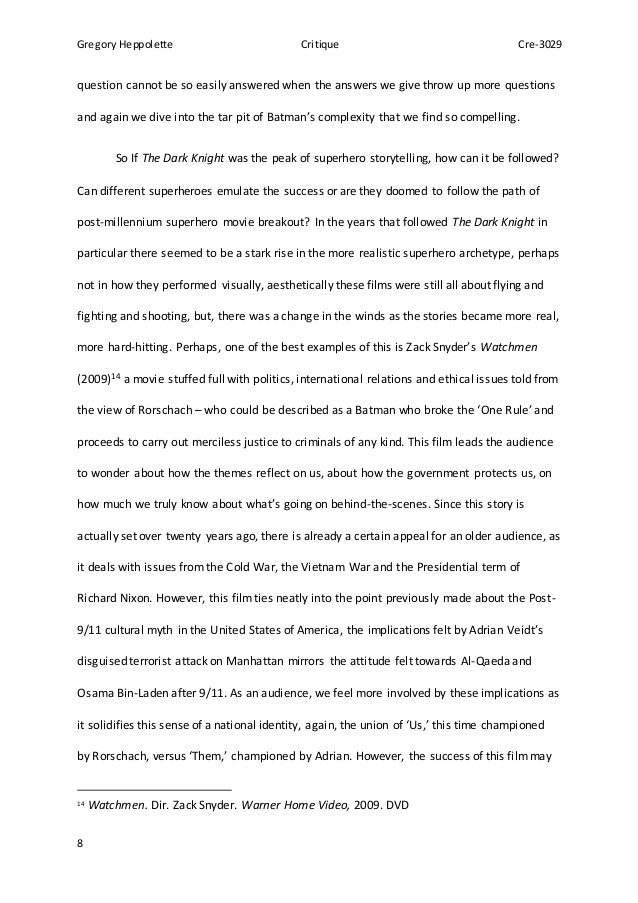 critique essay 8