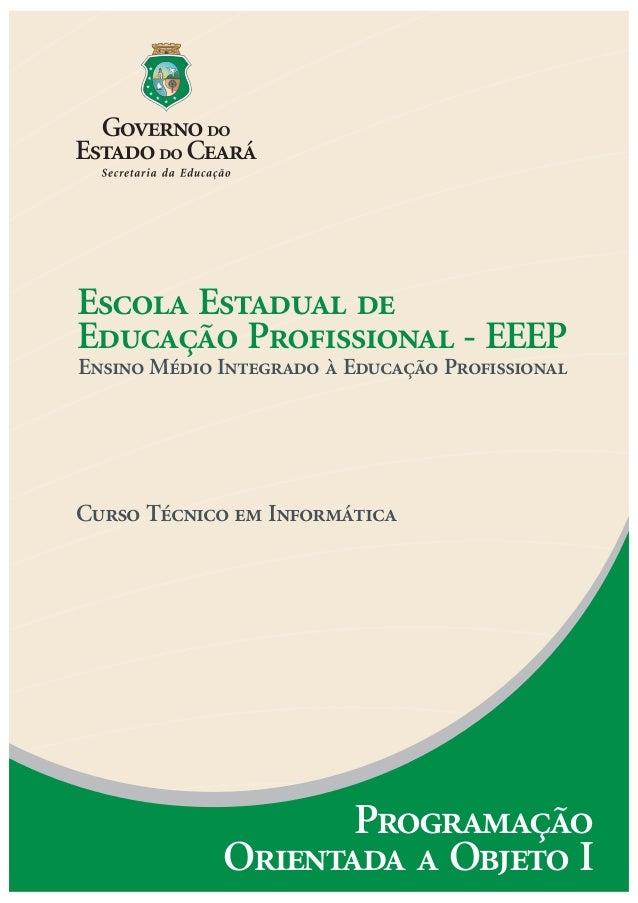 Escola Estadual de Educação Profissional - EEEP Ensino Médio Integrado à Educação Profissional Curso Técnico em Informátic...