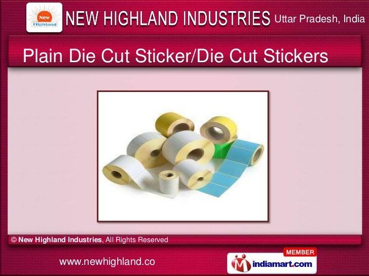 7 uttar pradesh india plain die cut sticker die