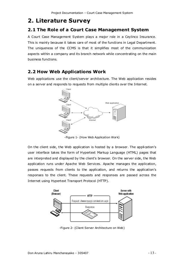 Court case management system lliitteerraattuurree ssuurrvveeyy 13 project documentation court case management pronofoot35fo Images