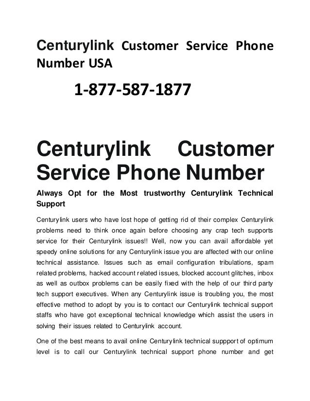 Centurylink Phone Service >> 1 877 587 1877 Centurylink Customer Service Phone Number Usa