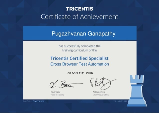 Pugazhvanan Ganapathy Cross Browser Test Automation on April 11th, 2016 COC0010939