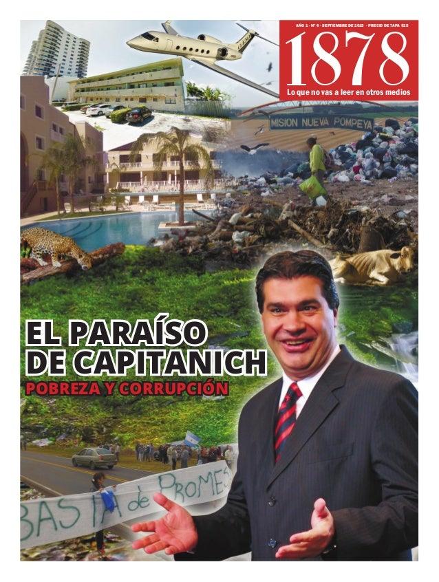 Lo que no vas a leer en otros medios AÑO 1 - Nº 6 - SEPTIEMBRE DE 2015 - PRECIO DE TAPA $25 POBREZA Y CORRUPCIÓN 1878 EL P...