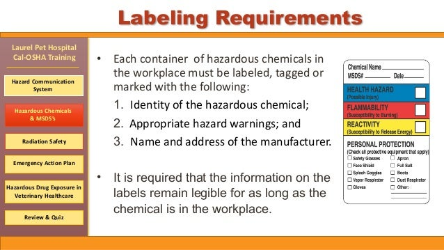 Cal Osha Required Training By 12 18 2015