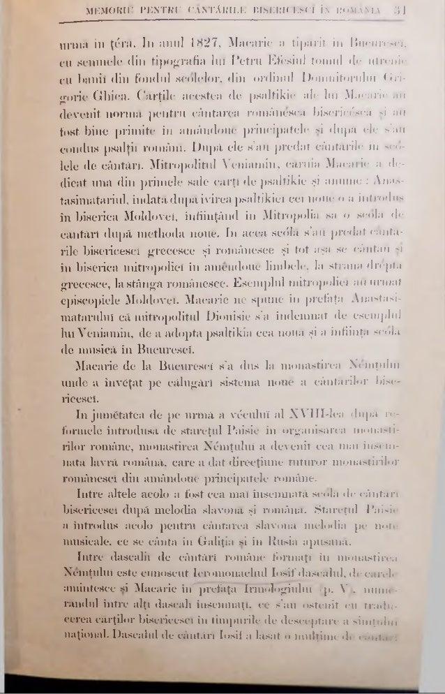MEMORIU PENTRU CÂNTĂRILE BISERICESC! ÎN ROMÂNIA 3 3 nostre bisericesc!. Uniil românesc, carele represinta geniul cântăreî ...