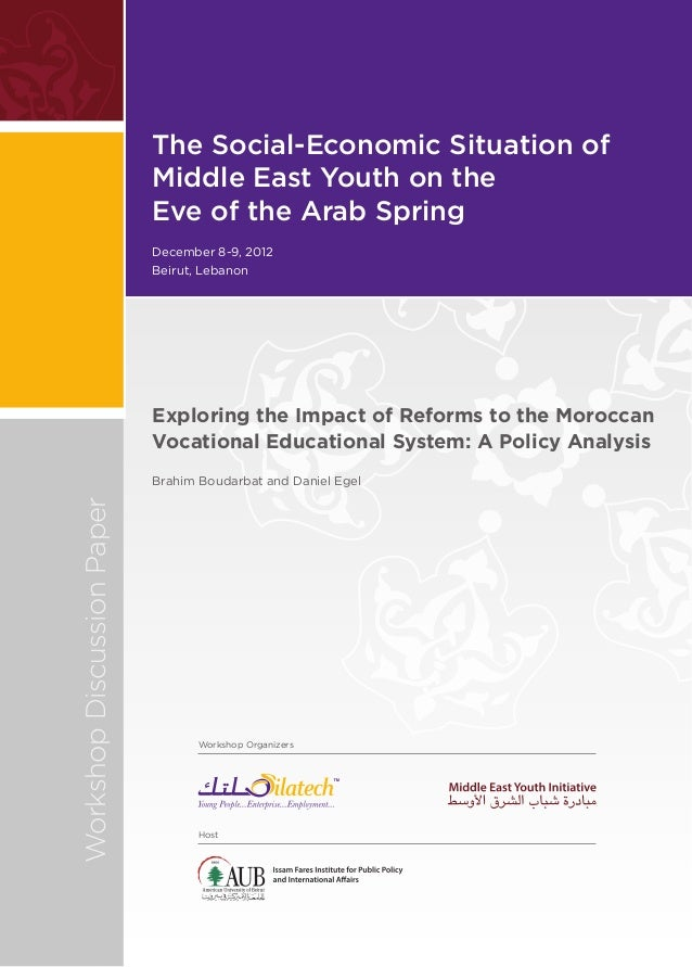 The Social-Economic Situation of                            Middle East Youth on the                            Eve of the...