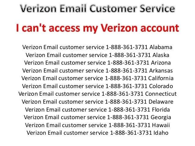 Verizon Email customer service 1-888-361-3731 TOLL FREE