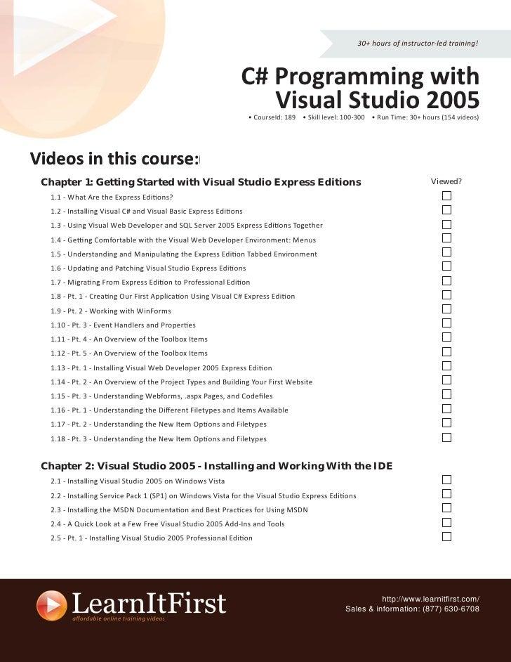 Visual C++ in Visual Studio