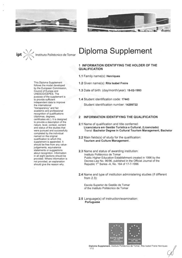 Diploma Supplement EN