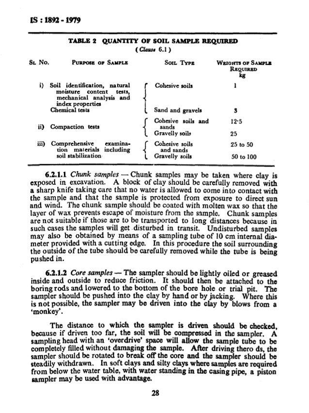 1892 soil investigation for foundations for Soil investigation