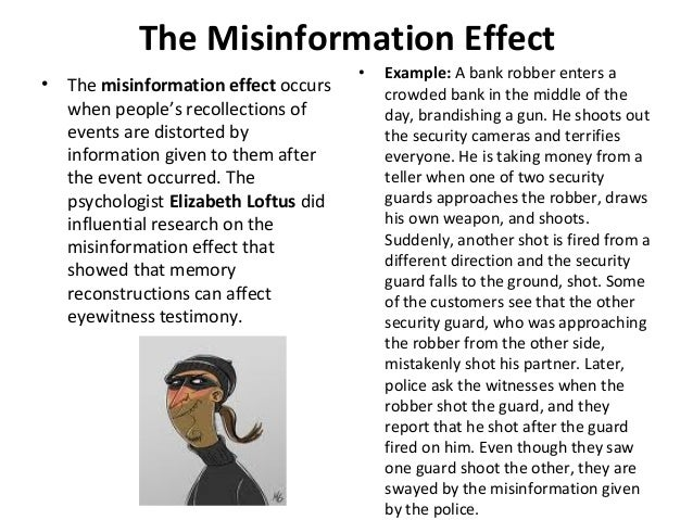 misinformation effect examples The rapid spread of misinformation online by farida vis  for example, a rumor spread on twitter that a children's hospital had been attacked by.