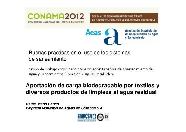Buenas prácticas en el uso de los sistemas de saneamiento GrupodeTrabajocoordinadoporAsociaciónEspañoladeAbastecim...
