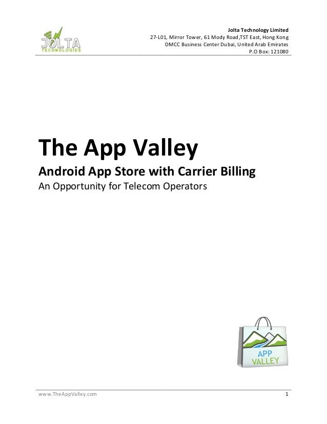 The App Valley Proposal (Aug 1 2015)