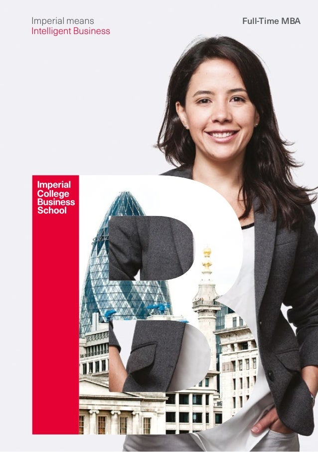 Imperial College Business School  FullTime Mba Brochure