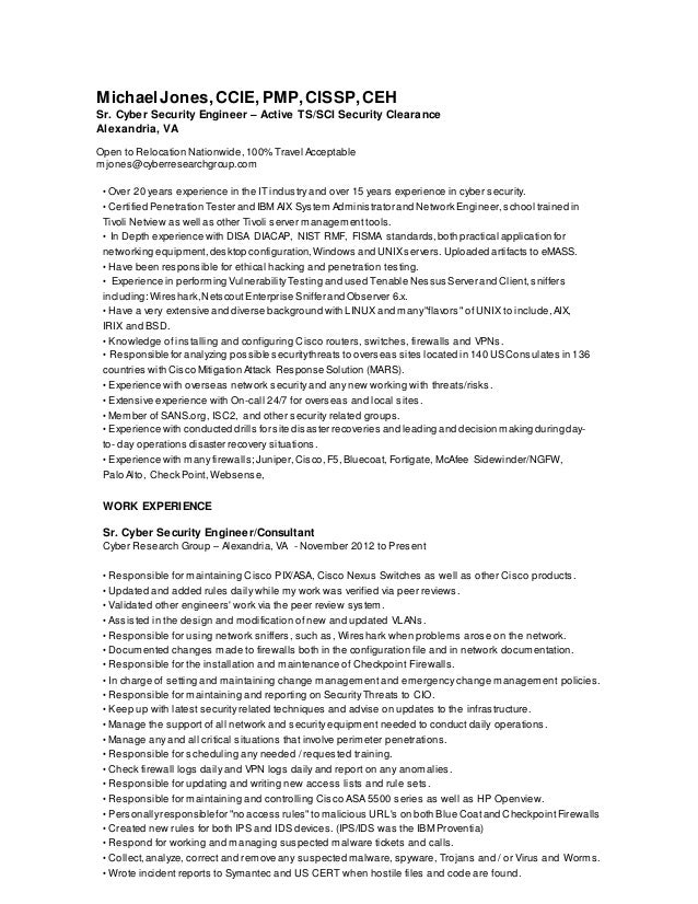 100 security clearance on resume sle resume for