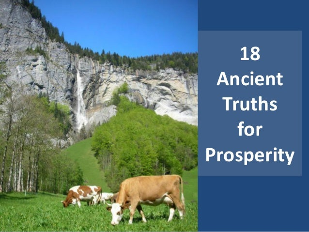 18 Ancient  Truths    forProsperity