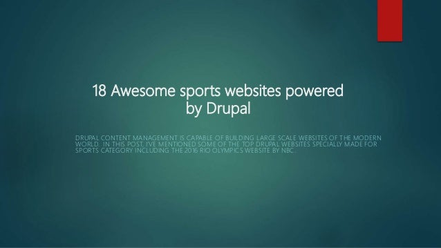 18 awesome sports websites powered by drupal