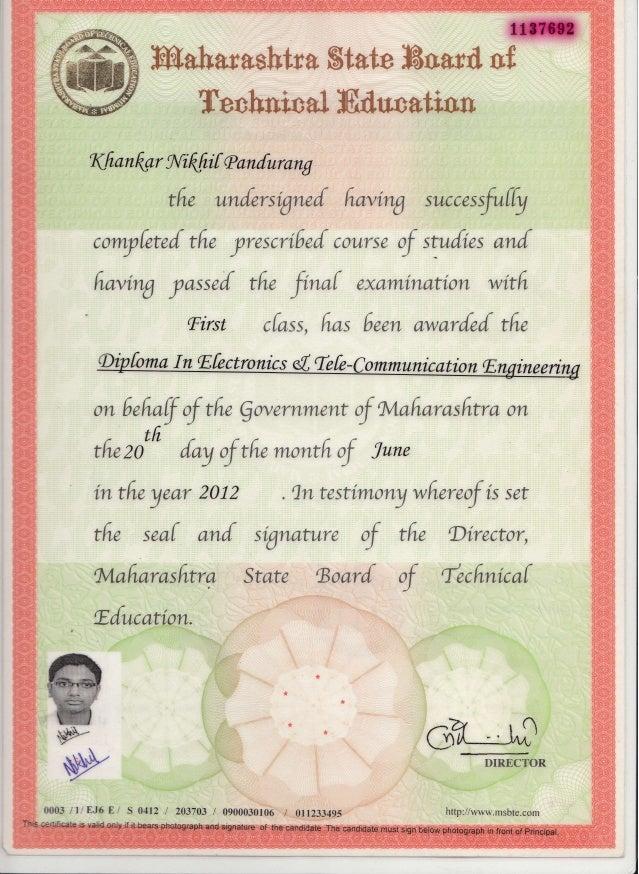certificate diploma slideshare