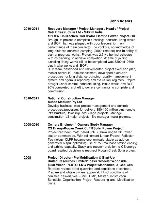 Amazing John Adams Resume Image Collection - Best Student Resume ...
