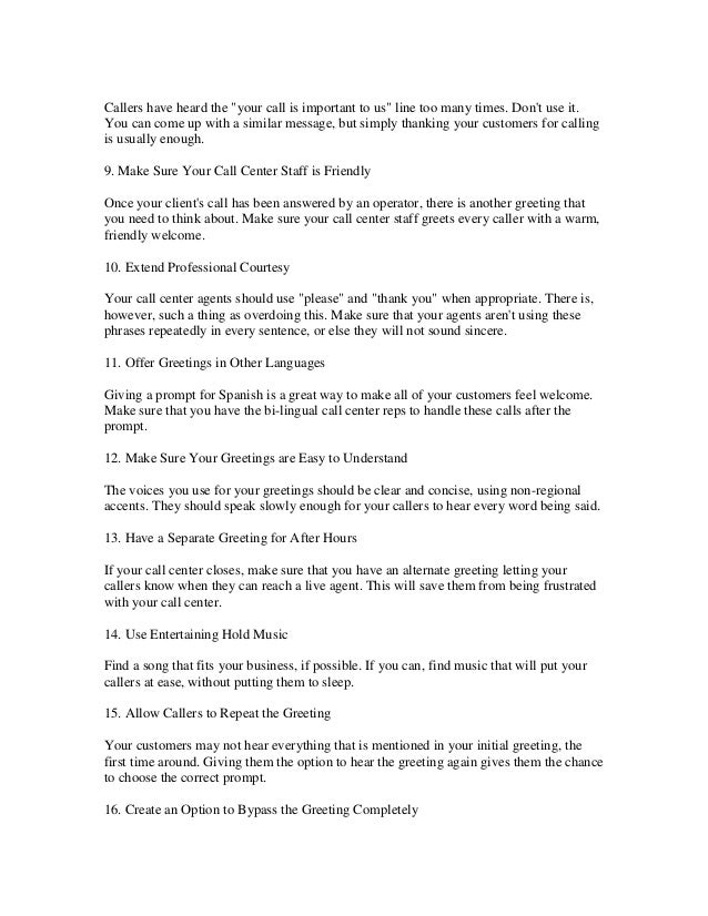 18 call center greeting tips to live by ditch the canned messages 2 m4hsunfo