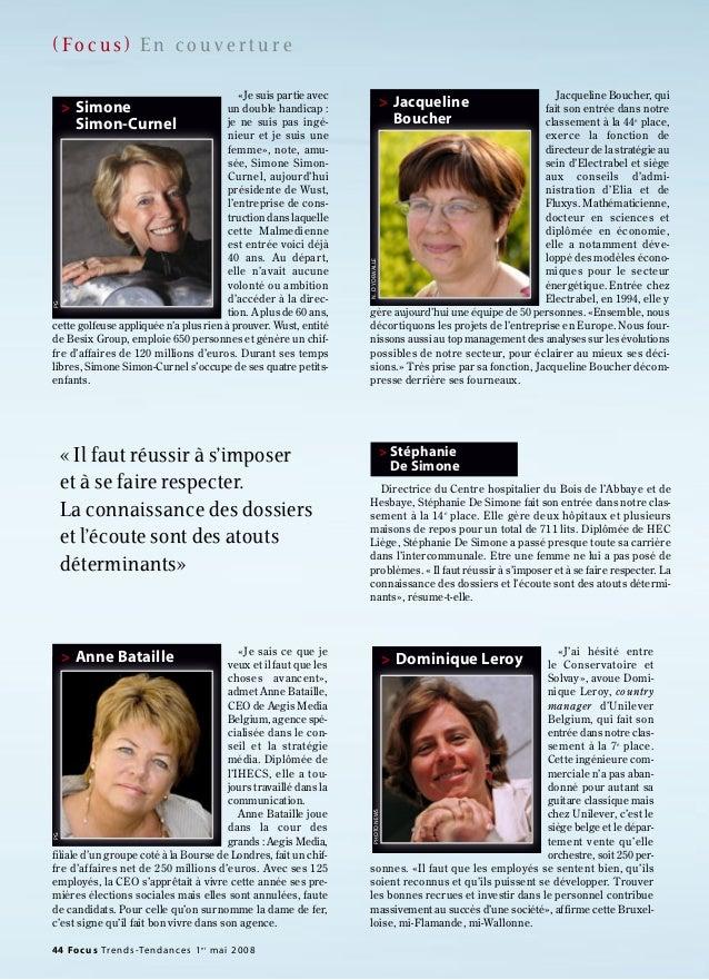 ( Fo c u s ) E n c o u v e r t u r e 44 Focus Trends-Tendances 1er mai 2008 Directrice du Centre hospitalier du Bois de l'...