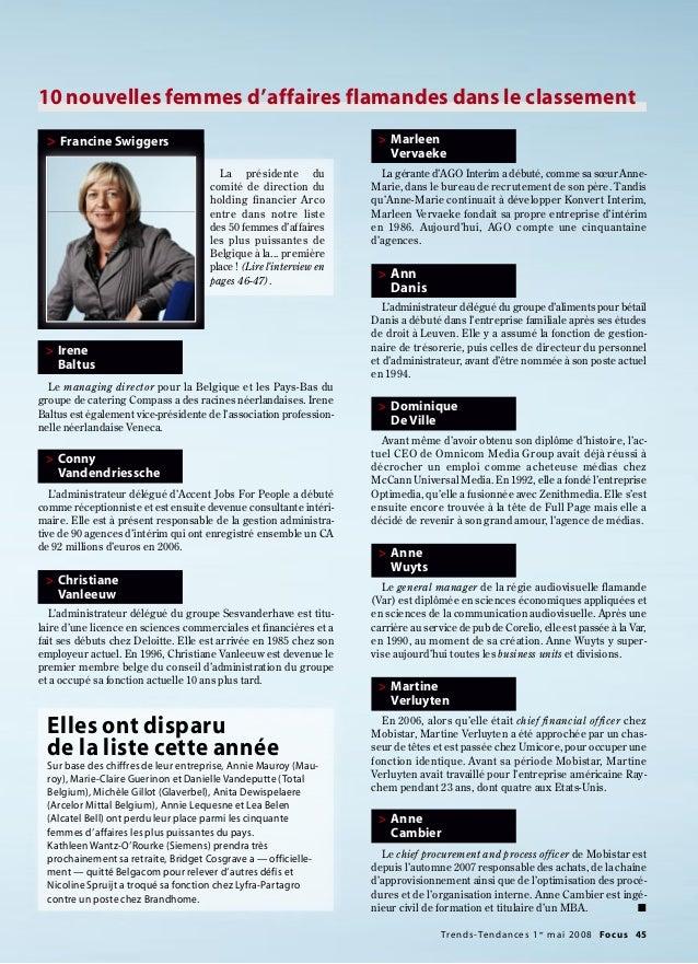 Le managing director pour la Belgique et les Pays-Bas du groupe de catering Compass a des racines néerlandaises. Irene Bal...